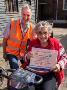 Pamela was one of the first to successfully complete the Scooter Safety Session